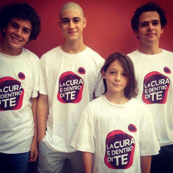 Braccialetti Rossi - I nostri ragazzi partecipano alla campagna ADMO indossando le magliette