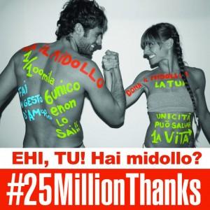 25 milioni di volte grazie, prima giornata mondiale del donatore di midollo osseo