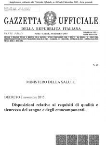 Decreto 2 Novembre 2015